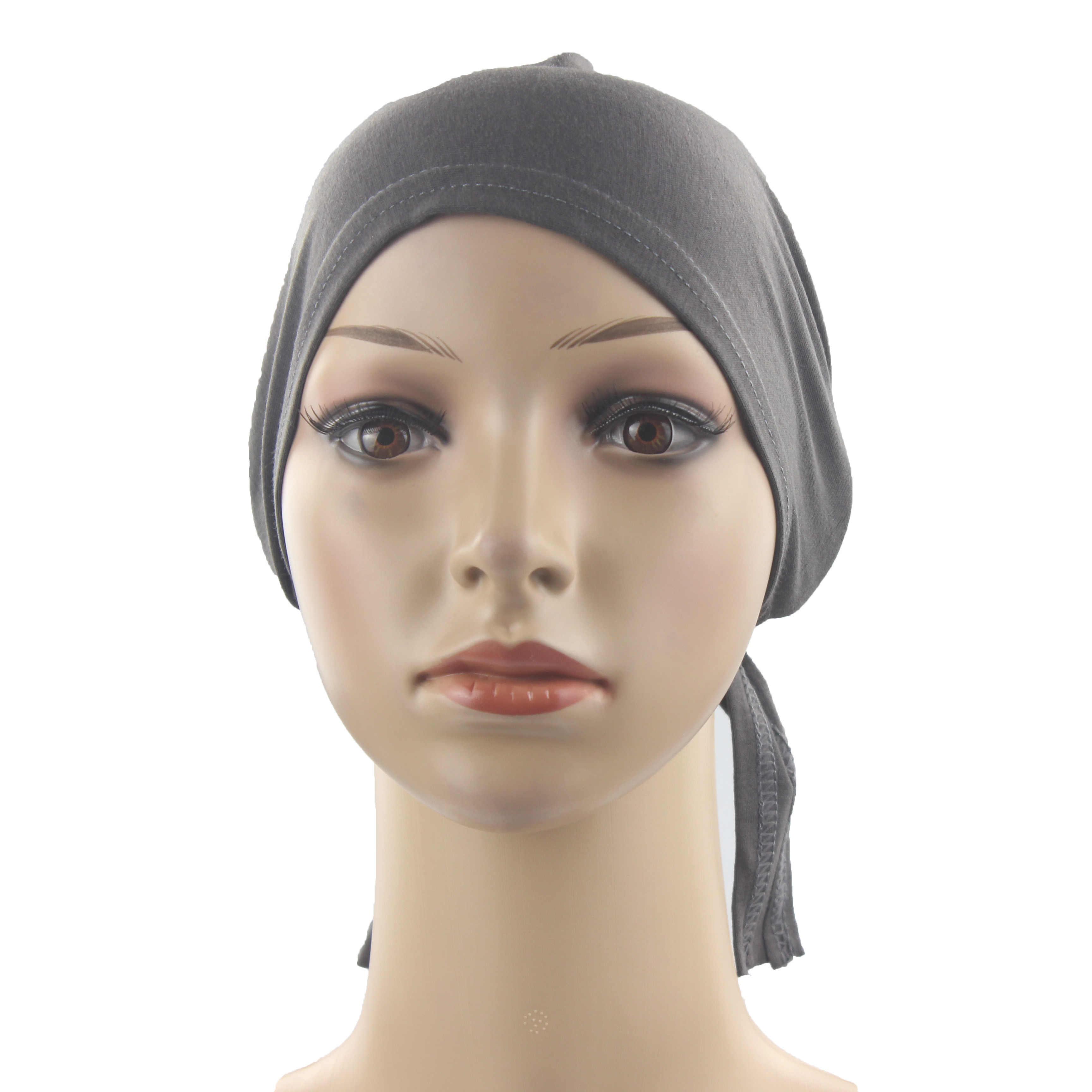 מוסלמי נשים בנות Underscarf חיג 'אב מצנפת כובע סרט רך 100% כותנה עם חגורה אנטי להחליק סיטונאי