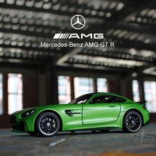 welly 1:24 Mercedes AMG GTR green  car alloy car model simulation car decoration collection gift toy Die casting model boy toy welly 1 24 bmw x5 car alloy car model simulation car decoration collection gift toy die casting model boy toy