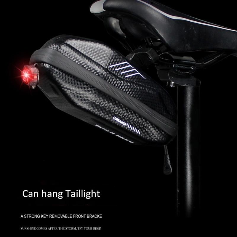 Купить с кэшбэком WILD MAN New Anti-Press Cycling Saddle Bag Waterproof Bicycle Seat Bag Rainproof Tools Bag Pouch Bike Equipment