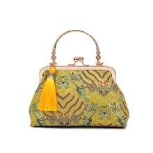 Винтажная Сумка тоут Kiss lock с бахромой, женские сумочки, кошельки, женская сумка через плечо с цепочкой, бесплатная доставка