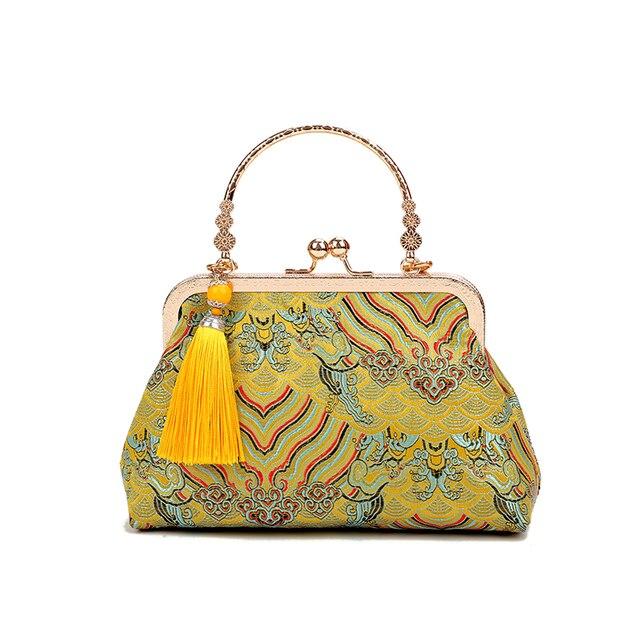 Vintage baiser serrure coquille sac sacs frange fourre tout femmes sacs à main sacs à main chaîne dame femmes épaule sac à bandoulière sacs livraison gratuite