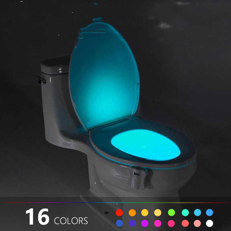 LED Human Motion Activated PIR Light Sensor Toilet Lamp Battery Operated Night L