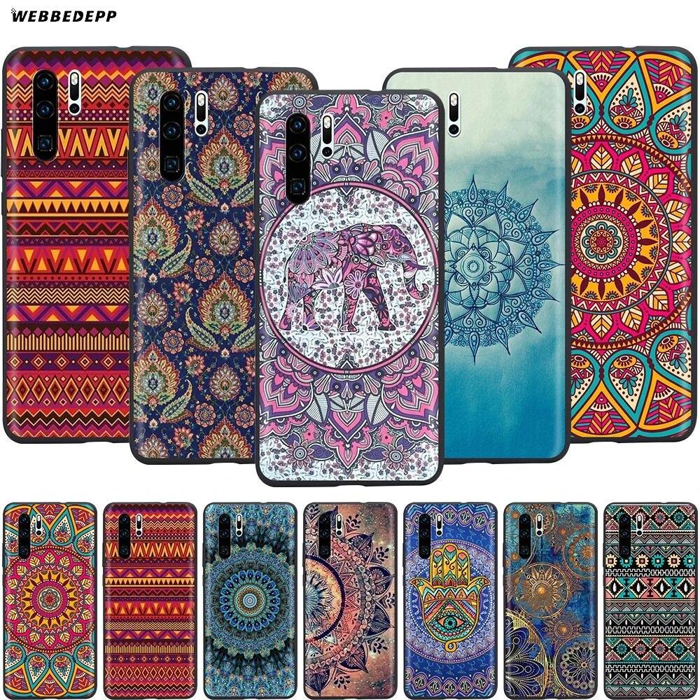 Webbedepp Mandala Fashion Print Case for Huawei Mate 10 20 30 Nova 2i 2 3 3i 4 5i Y5 Y6 Y7 Y9 Pro Lite Prime