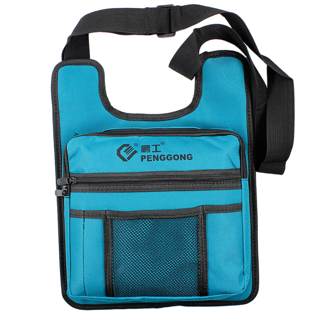Hardware Toolkit Shoulderbag Waterproof Oxford Cloth Multi Zipper Organize Pockets Storage Pouch Portable Electrician