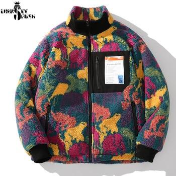 Lindsey Seader 2020 Hip Hop Reversible Jacket Parka Colorful Camouflage Streetwear Men Harajuku Windbreaker Fleece Winter Coat