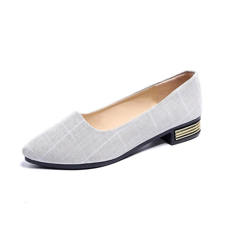 The-Work-Shoes Pointed Korean-Version Black Women New Summer of Tide Shallow Four-Seasons
