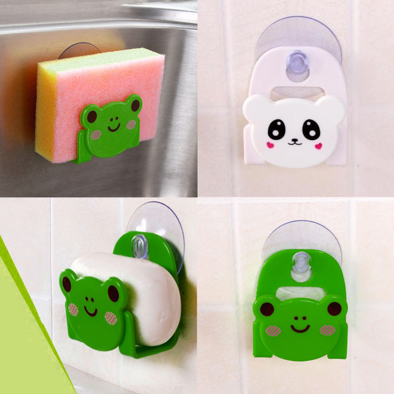 Carton Dish Cloth Sponge Holder With Suction Cup Home Decor Dinning Room X7.24