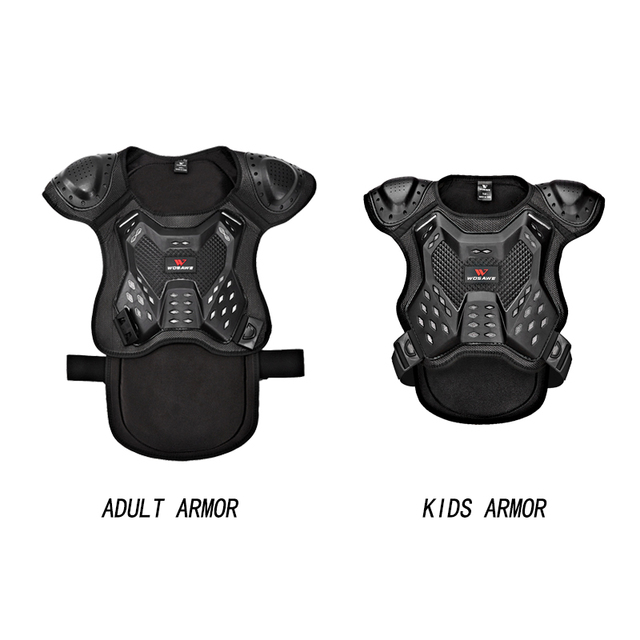 WOSAWE Motorcycle Armor Vest Chest Back Support Body Protective Gear Snowboard Motocross Racing Skateboard Armor Adult Kids 2