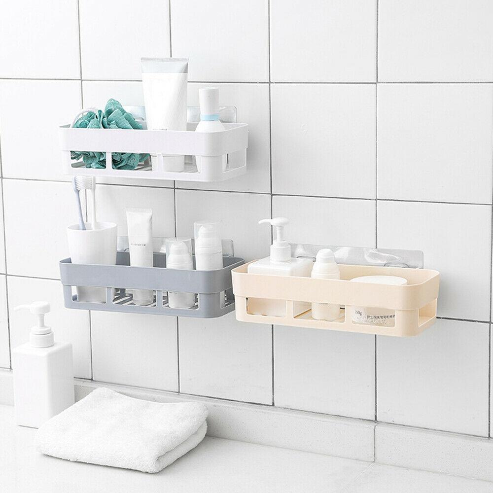 1pcs Home Bathroom Shelf Storage Rack Stick Hook Kitchen Home Decoration Shower Room Shelf Storage Rack Accessories Specials