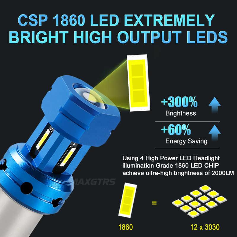 Ampoules de voitures, feux de stop blanc rouge, clignotant automatique, lampe DRL, sans erreur, 2x P21/5W LED Canbus, 1157 BAY15D LED