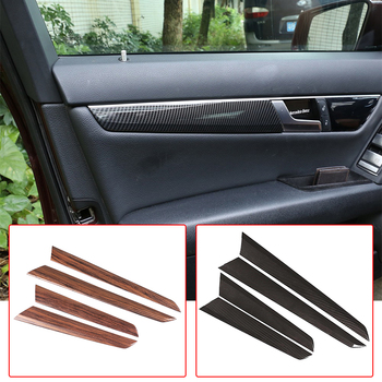 4Color Car Door Decoration Panel Cover Trim ABS Interior Stickers For Mercedes Benz C Class W204 C180 C200 2008-13 Car Accessory