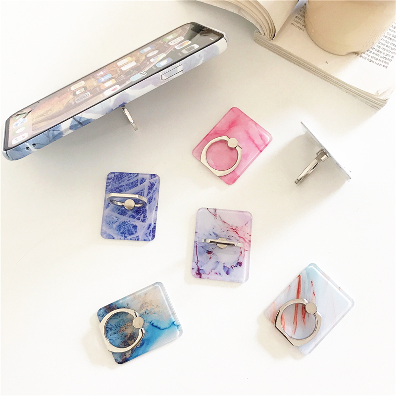 Image 5 - Mobile phone holder square bracket luxury marble bracket mobile phone bracket bracket 360 degree extended flat bracket-in Phone Holders & Stands from Cellphones & Telecommunications