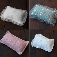 Retro embroidery lace baby pillow newborn photography prop pillow baby photo prop white lace mesh