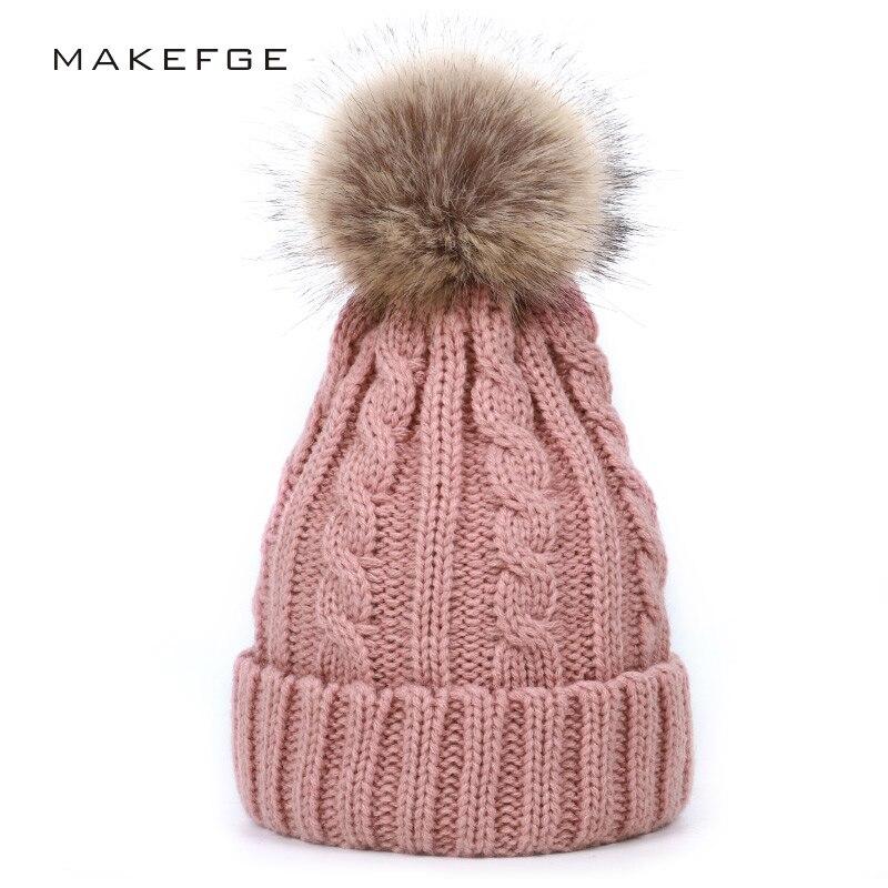 2019 Cute Boy Girl Winter Knit Hat Pompon Children's Winter Hat Warm Stripes Cute Fun Baby Hat Comfortable Sombrero Peas