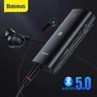 Baseus Bluetooth 5,0 Adapter 3D Stereo Sound Drahtlose Empfänger Typ C 3,5mm Jack Kopfhörer ACC/SBC Audio Musik bluetooth Adapter