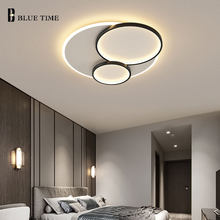 Round Circle Modern Led Ceiling Lamp For Living room Dining room Bedroom Kitchen Adjustable Home Ceiling Light Acrylic Fixtures