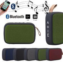 1 шт. Портативный беспроводной Bluetooth стерео динамик для беспроводной bluetooth динамик SD карта FM Динамик для смартфона планшета ноутбука