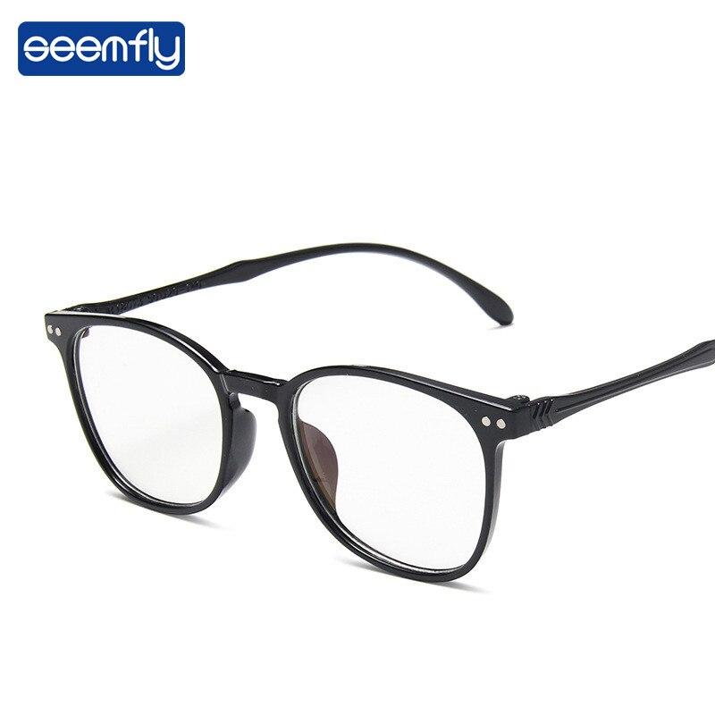 Seemfly Ultralight Anti-blue Light Black Frame Glasses Women&Men Clear Lens Goggle Classic Optical Computer Eyeglasses