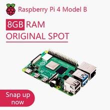 Kit de carte de développement dorigine framboise Pi 4 modèle B RAM 2G 4G 8G 4 cœurs CPU 1.5Ghz 3 Speeder que Pi 3B +