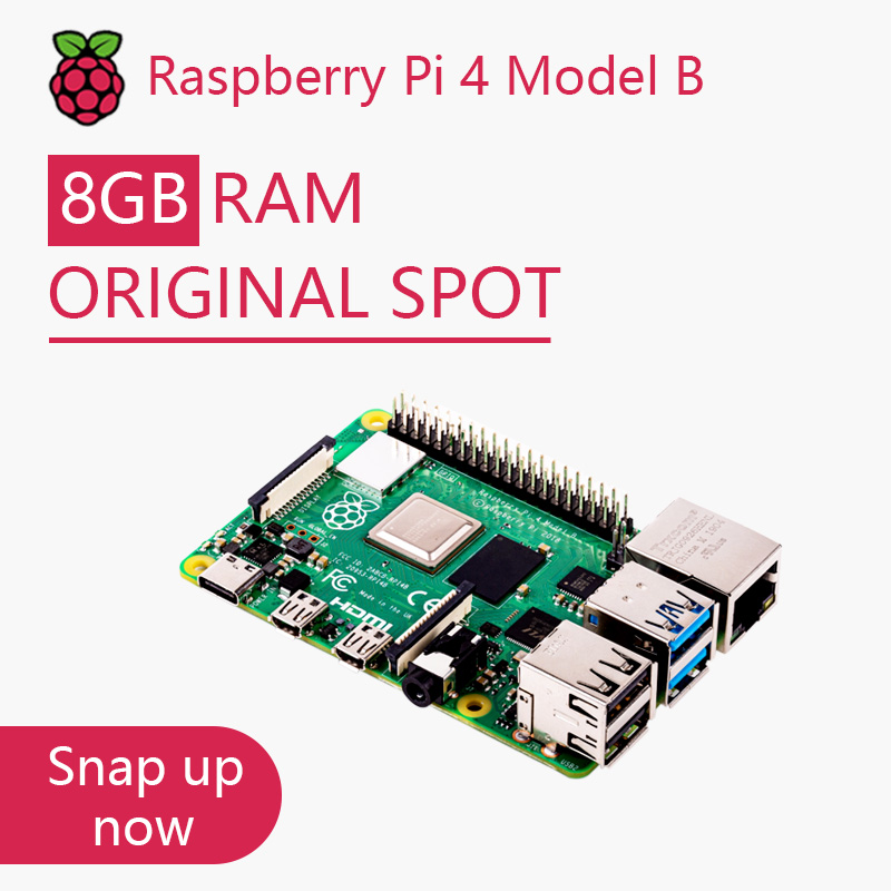 Official Original Raspberry Pi 4 Model B Dev Board Kit RAM 2G 4G 8G 4 Core CPU 1.5Ghz 3 Speeder Than Pi 3B+