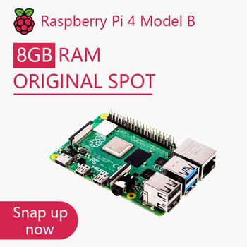 Oficjalny oryginalny Raspberry Pi 4 Model B zestaw płyty rozwojowej RAM 2G 4G 8G 4 rdzeń CPU 1 5Ghz 3 Speeder niż Pi 3B + tanie i dobre opinie HDMI RCA Wyjście Obsługa Kart TF Brak 4 gb Broadcom BMC2711 10 100 1000 Mbps WiFi 802 11b g n Bluetooth USB 2 0 X 2 USB 3 0 X 2