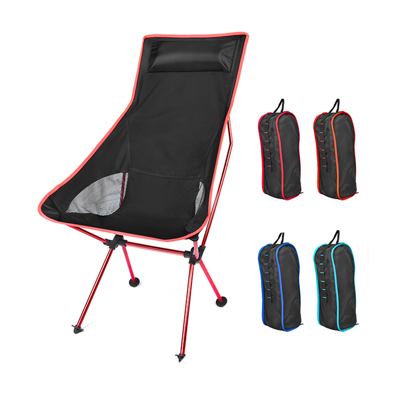 Portable Moon Chair Lightweight Fishing Camping BBQ Chair Foldable Extended Outdoor Hiking Ultralight Multifunctional Chair