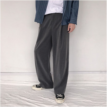 2019 Spring And Autumn New Trend Personality Wild Casual Japanese Retro Loose Wide Leg Pants Black Gray / Army Green M 2XL