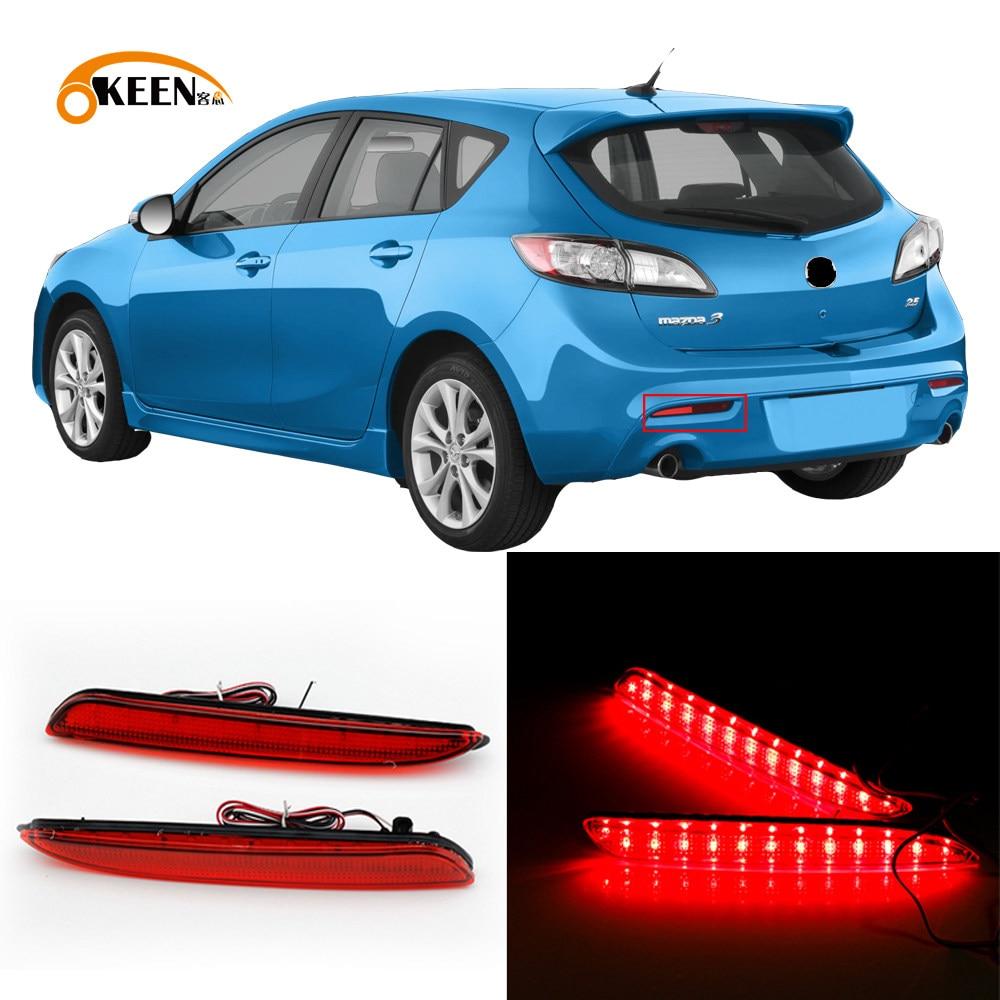 WJSXJJ Car Styling Left Right Rear Bumper Fog Light Fog Lamp ...