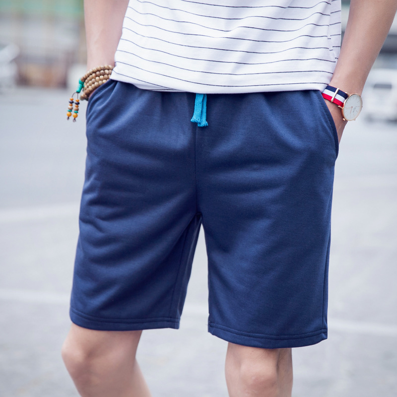 2017 Summer Sports Shorts Men Cotton Beach Pants Lace-up Slim Fit Shorts MEN'S Casual Pants