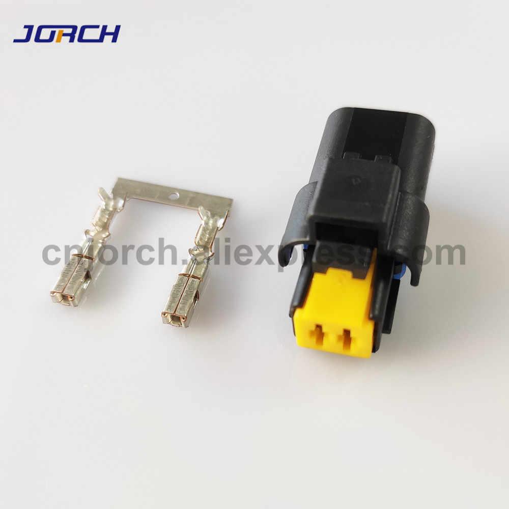 10 комплектов 2 Pin way FCI 2,5 серия Авто вставной корпус электрический провод разъем
