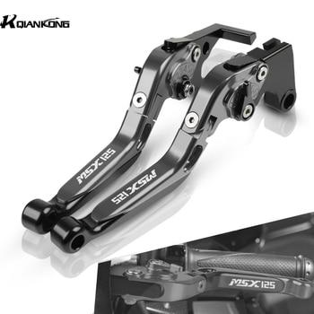 With MSX 125 LOGO Motorcycle Brake Levers Adjustable Brake Clutch Lever Handlebar For Honda MSX125 2014 2015 2016 2017 2018 2019 sharp kc g51rw белый
