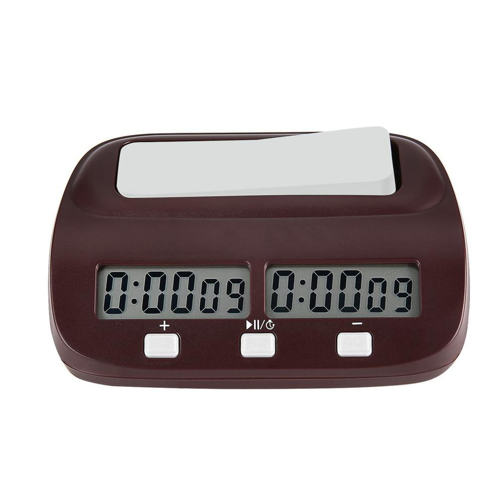 2019 Professional Compact Digital Chess Clock Count Up Down Timer Electronic Board Game Bonus Competition Master Tournament
