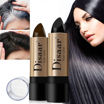 Cream-Stick Hair Dye Temporary Cover Up Root Instant Gray Coverage Hair Color Modify Cream Stick Hair Color Dye Black Brown Balm