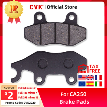 цена на CVK Motorcycle High Quality Front Brake Pads Disks Shoes FOR Honda CA250 Motorcycle Accessories