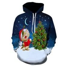 Couple's Hoodies Streetwear Casual Fashion Christmas Print hip hop Hoodie Sweatshirt Jacket Pullover Streetwear For Lovers christmas digital print pullover hoodie