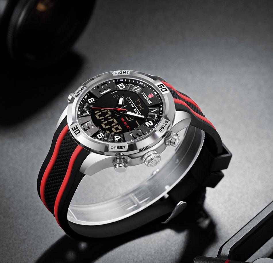 H1698c0735d99466c83cebce22c1d84e3s Watch For Men FOXBOX Top Brand Luxury Dual Display