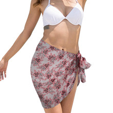 Swimsuit Skirt Floral-Print Summer Women's Cover-Up Bikini Beach-Wrap Sexy