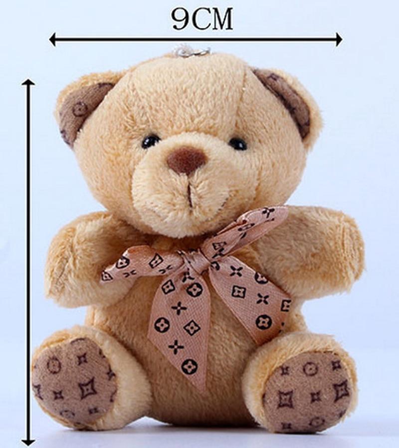 1 pçs quente 10cm kawaii pequenos ursos de pelúcia brinquedos de pelúcia animais de pelúcia macio urso bonecas crianças brinquedos