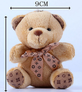 1PCS Hot 10CM Kawaii Small Teddy Bears Plush Toys Stuffed Animals Fluffy Bear Dolls Soft Kids Toys