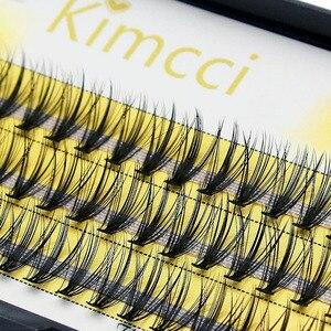 Image 4 - Kimcci 60 Bundles Mink Eyelash Extension Natural 3D Russian Volume Faux Eyelashes Individual 20D Cluster Lashes Makeup Cilios