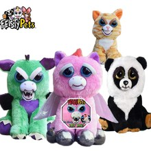 Плюшевые животные Feisty, смешные, меняющие лицо Единорог, мягкие игрушки для детей, мягкий дракон, злые животные, кукла панда