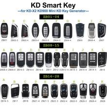 KEYECU Smart remote ZB01 ZB02 ZB03 ZB04 ZB06 ZB08 ZB10 3 ZB15 ZB16 5 ZB17 ZB22 5 ZB21 5 ZB26 ZB28 KD Smart Key Remote for KD X2