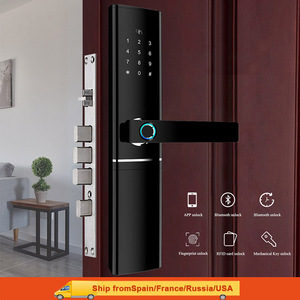 Image 1 - Akıllı parmak izi kapı kilidi güvenlik akıllı kilit biyometrik elektronik Wifi kapı kilidi Bluetooth uygulaması ile kilidini