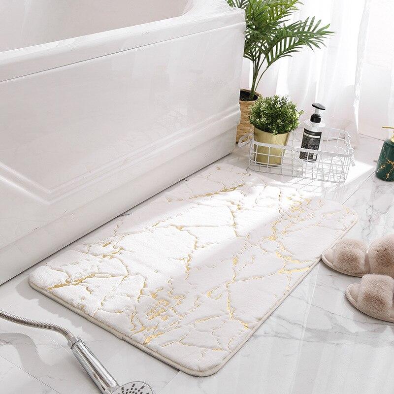 Tapis de sol de maison en fausse fourrure de lapin, antidérapant, rectangulaire, moderne, pour salon, canapé, chambre à coucher, salle de bain
