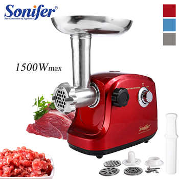 1500W Colorful Stainless Steel Electric Meat Grinders Home Sausage Stuffer Meat Mincer Heavy Duty Household Mincer Sonifer - DISCOUNT ITEM  40% OFF All Category