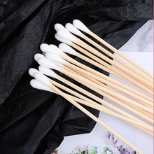 Single-end wooden stick cotton swabs industrial dust-free disinfection cotton swabs