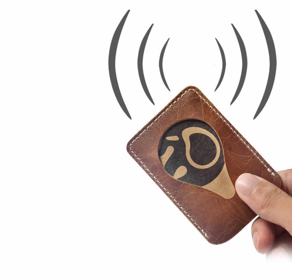 Hommes portefeuille porte-carte d'affaires banque titulaire de la carte en cuir pick-up paquet bus porte-carte mince en cuir multi-bits sac