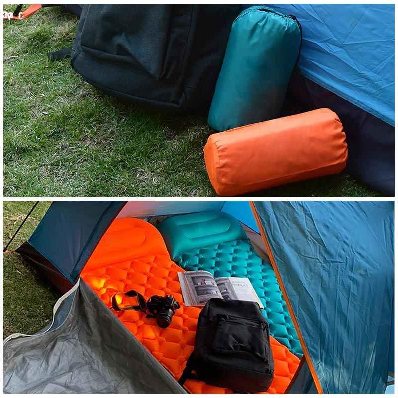 インフレータブルエアマットレスポータブルキャンプビーチピクニックマット寝てソファパッド TPU 屋外バックパッキング、ハイキングインフレータブルマットレス