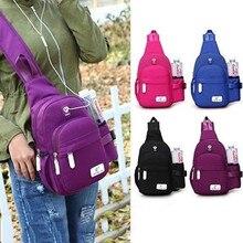 New Arrival Nylon Unisex Chest Pack Single Shoulder Strap Back Bag Crossbody Bags for Women Sling Shoulder Bag Travel Back Pack