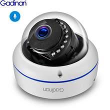 Gadinan 5MP 1080P POE Segurança Vigilância Áudio Câmera IP Reconhecimento Facial 2.8 milímetros Lens Dome CCTV AI de Vídeo Ao Ar Livre para o Sistema de IP